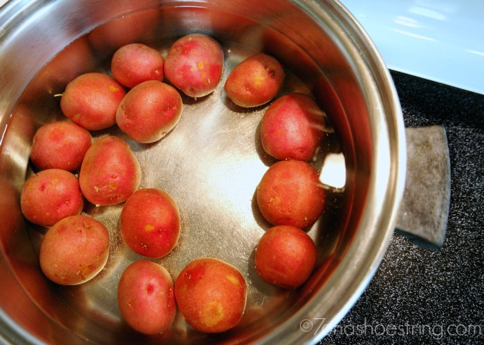 boil small red potatoes from Target