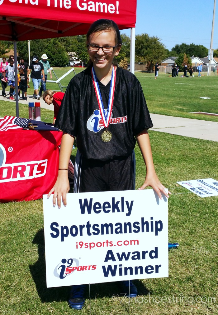 winning the weekly sportsmanship award