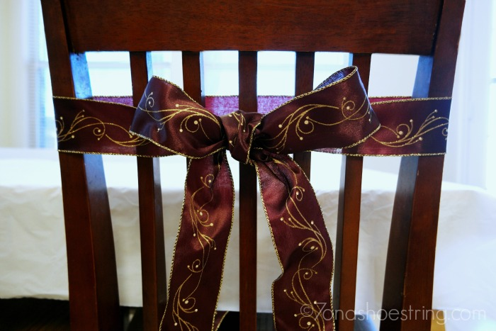 wrap ribbon around a chair