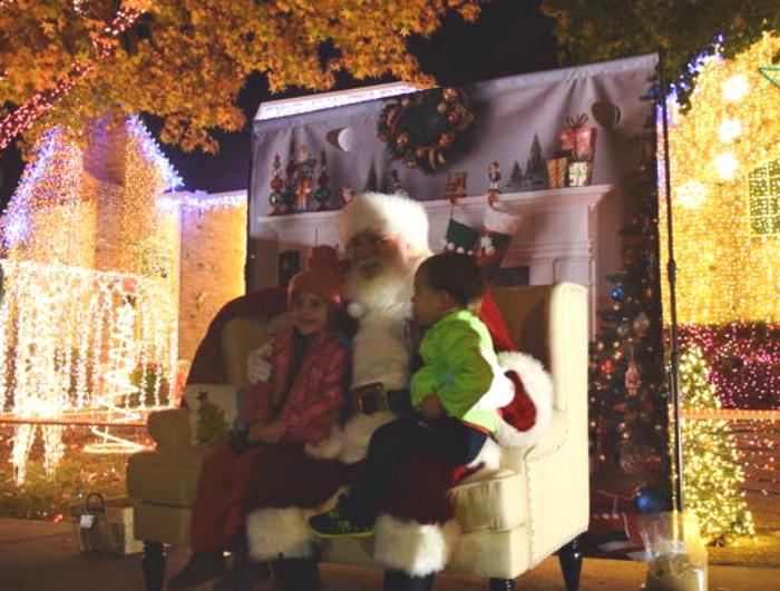 deerfield santa at home - Deerfield Plano Christmas Lights