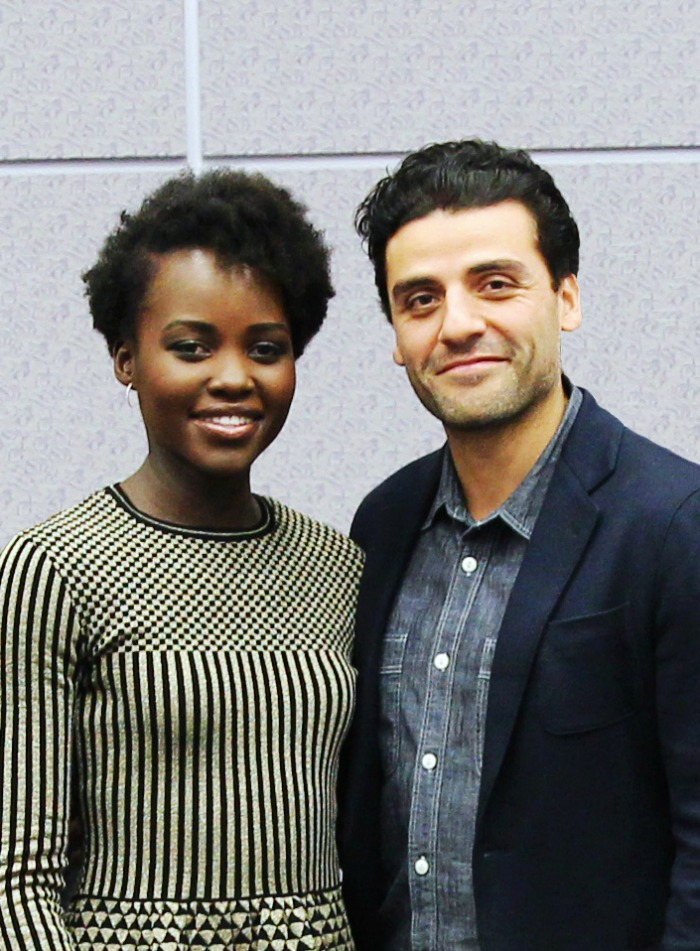 EXCLUSIVE INTERVIEW: Lupita Nyong'o & Oscar Isaac on Star Wars: The Force Awakens
