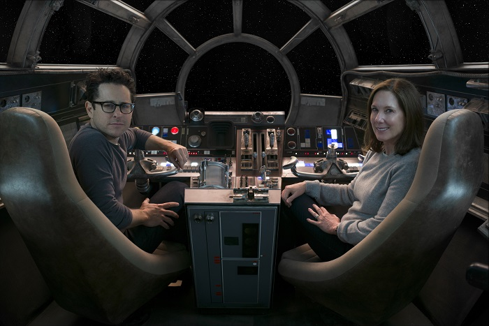 J.J. Abrams and Producer Kathleen Kennedy