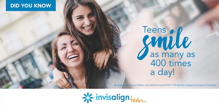 Teens smile 200x day - Invisalign