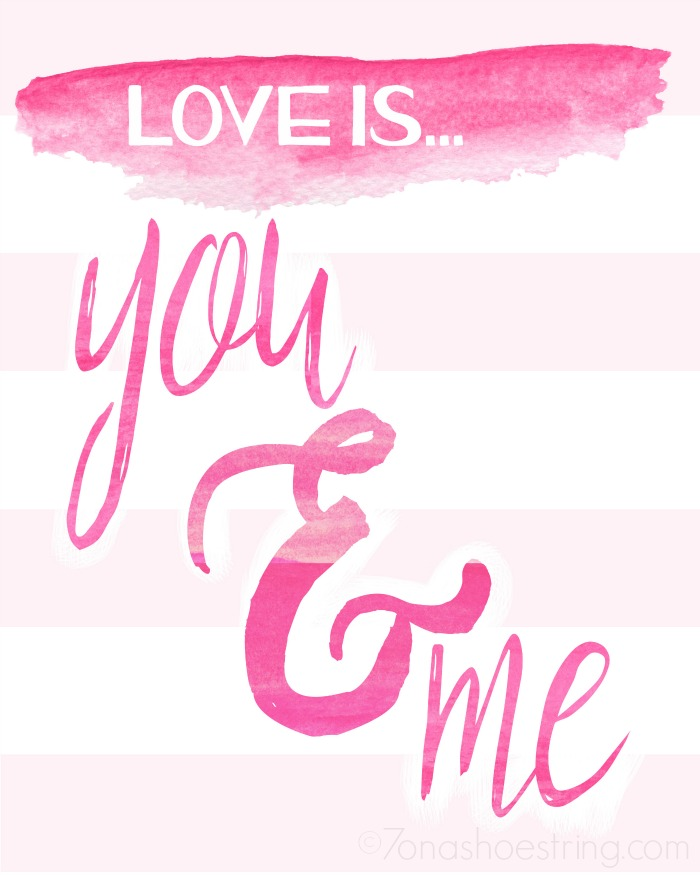 Love is You and Me printable