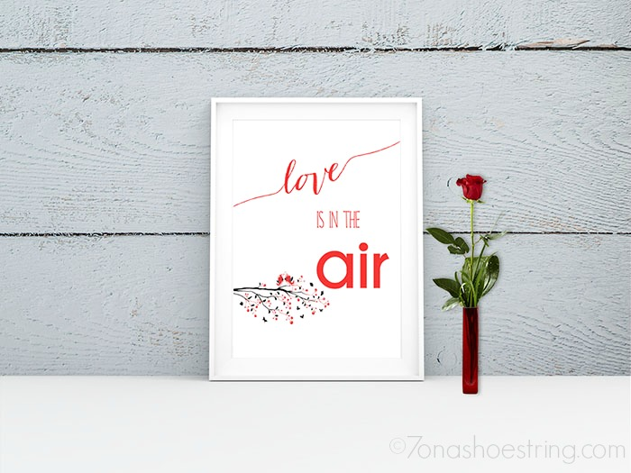 Love is in the Air printable poster