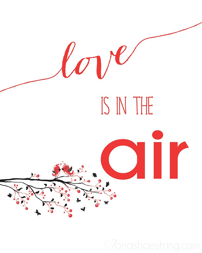 Love is in the Air printable