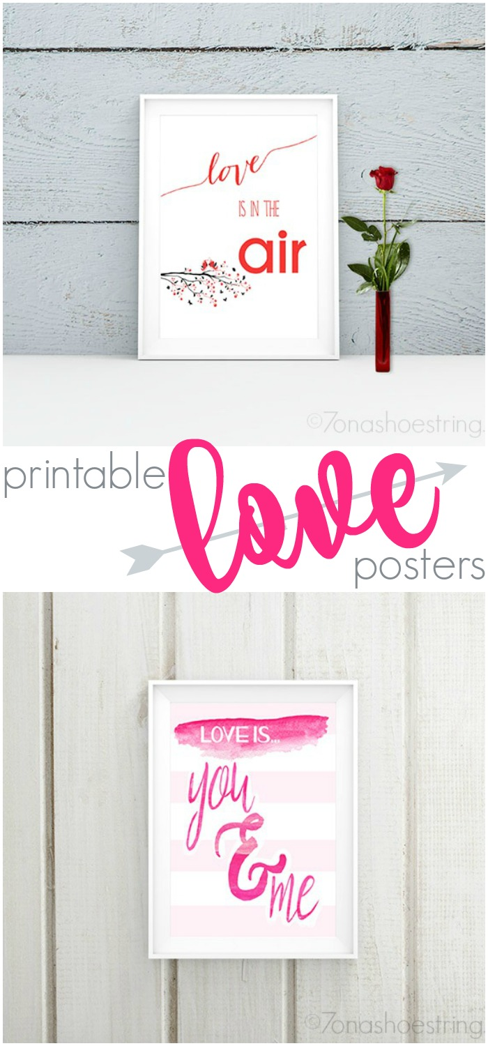 Printable Love Posters - Valentines Day