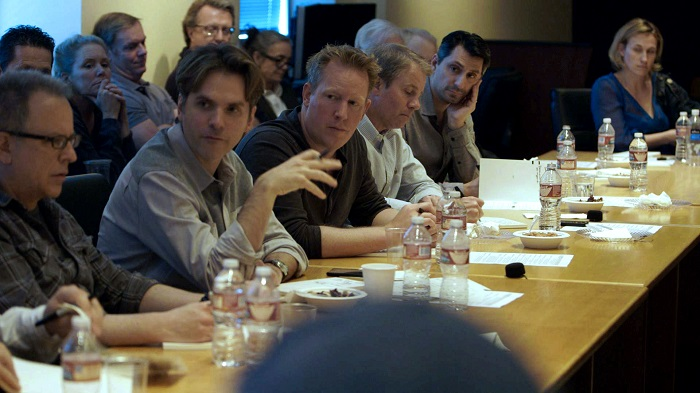 ZOOTOPIA - (L-R) director Rich Moore, director Byron Howard, co-director/writer Jared Bush, producer Clark Spencer.