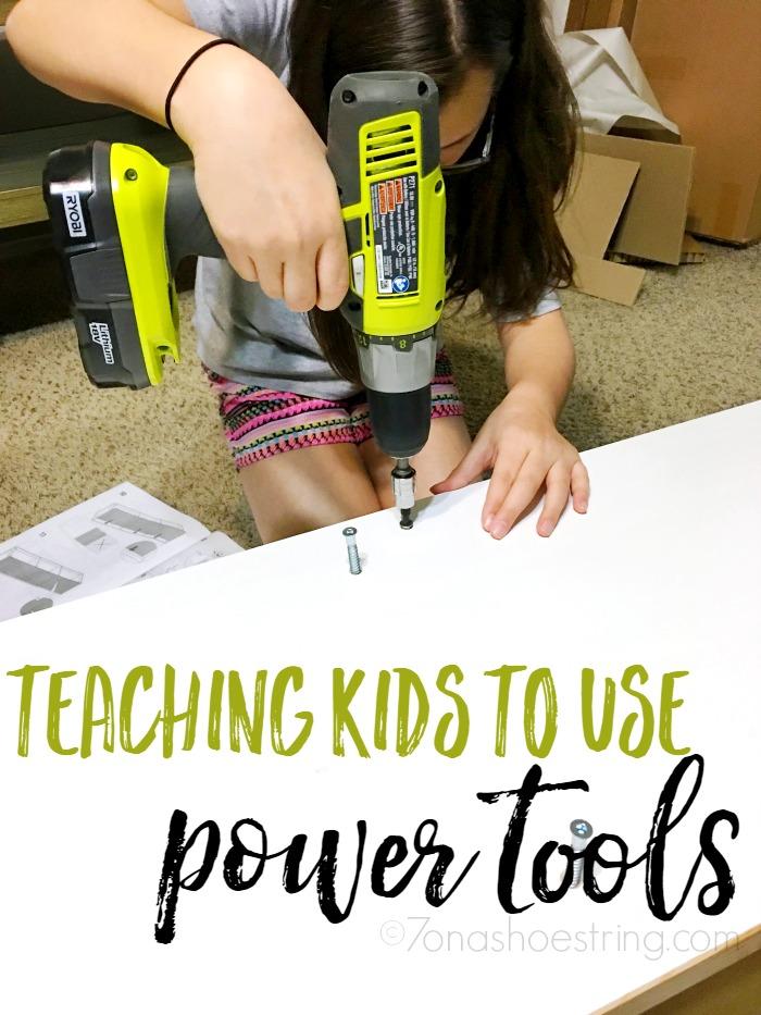 teaching kids to use power tools