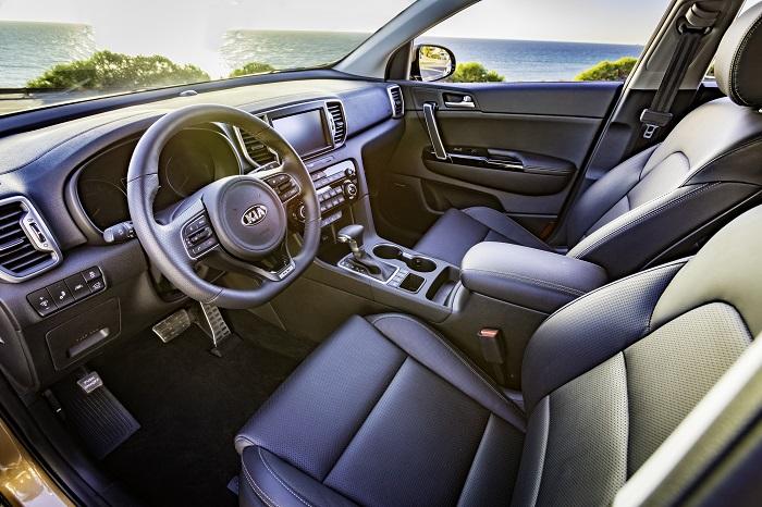 2017 Sportage SX Turbo interior
