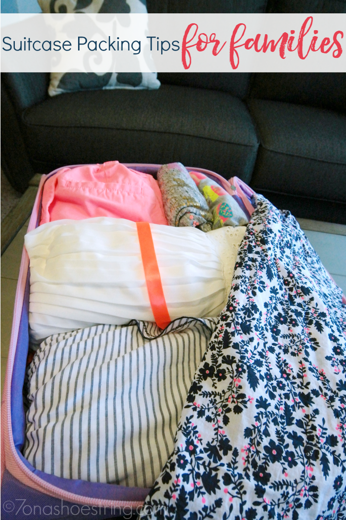 suitcase packing tips for families