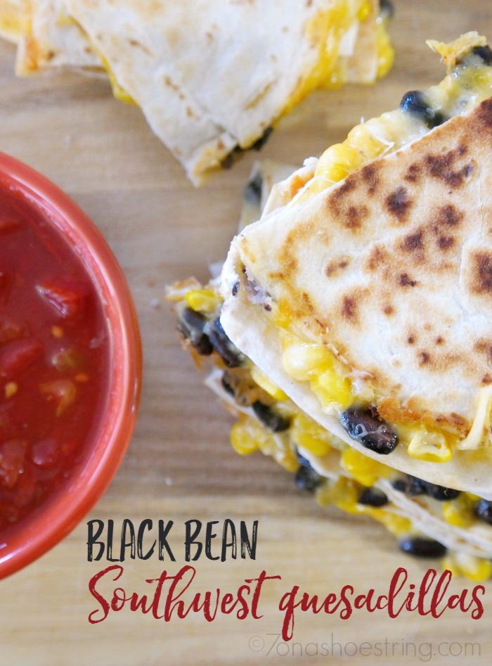 Black Bean Southwest Quesadillas