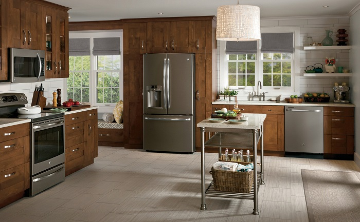GE slate country kitchen