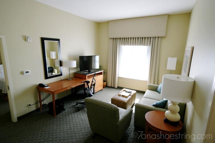 Homewood Suites spacious living area