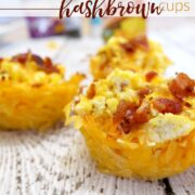 Quick and Easy Dinner : Scrambled Eggs and Bacon Hashbrown Cups
