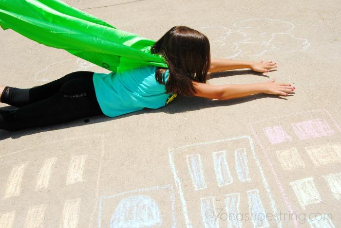 creative city scape chalk art