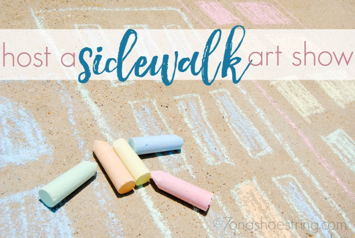 host a sidewalk art show