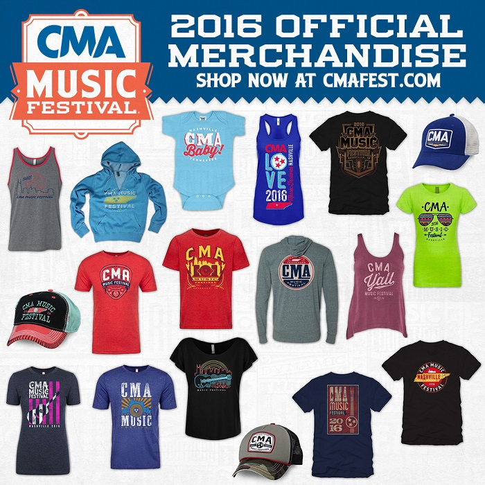 CMAfest 2016 official merchandise