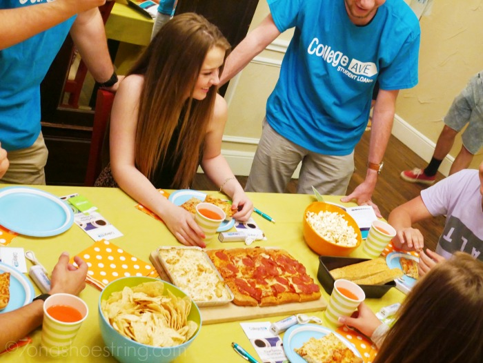 College Ave Student Loans pizza party