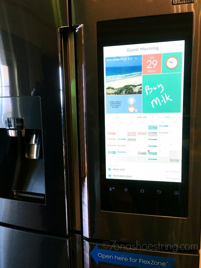 Samsung refrigerator at Mom 2 Summit