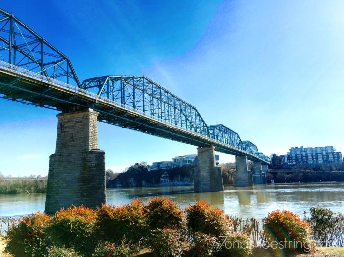 Walnut Street Bridge overlooking Coolidge Park - Chattanooga