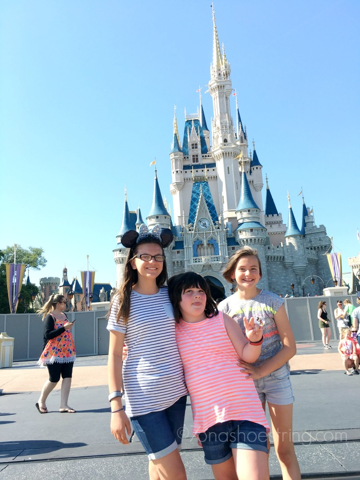 Walt Disney World Magic Kingdom with sisters