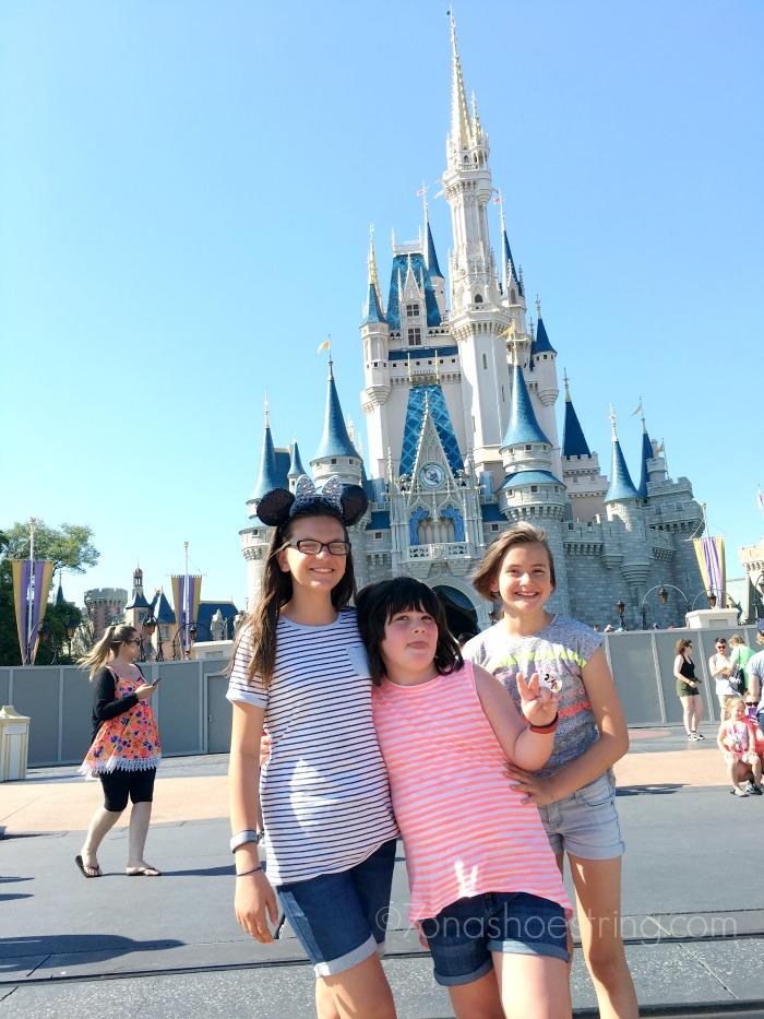 Walt Disney World Magic Kingdom with sisters