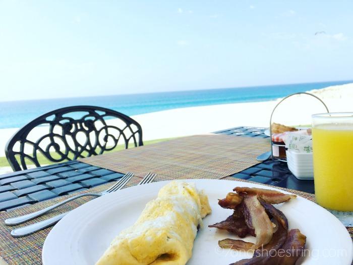 breakfast on beach Dreams Resorts