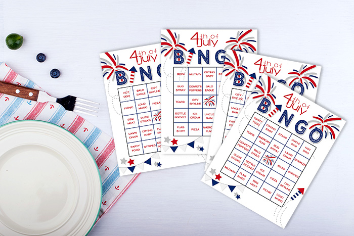 printable 4th of July Bingo