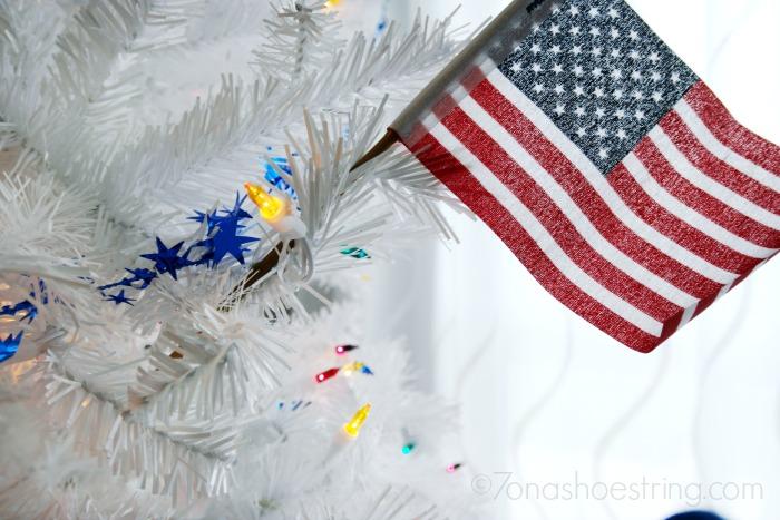 American flag Christmas Tree