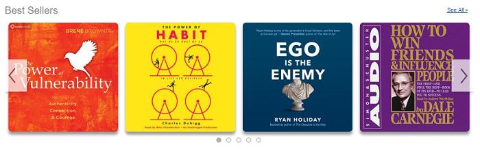 Audible self development audio books
