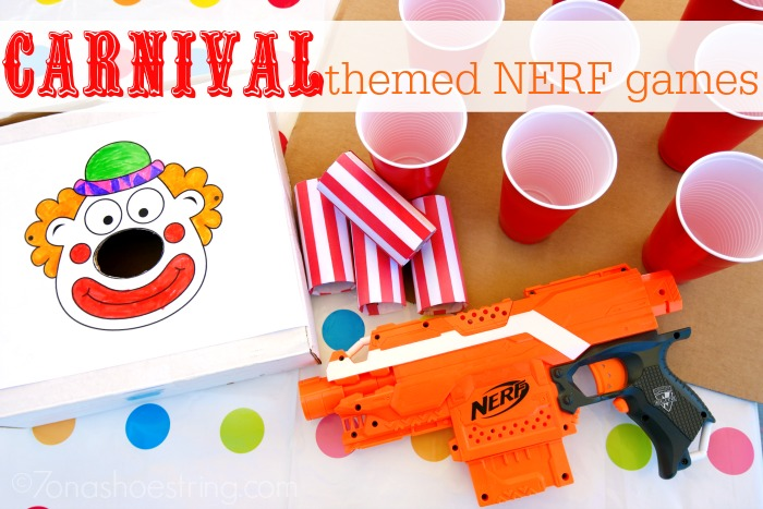 Carnival Themed NERF Games