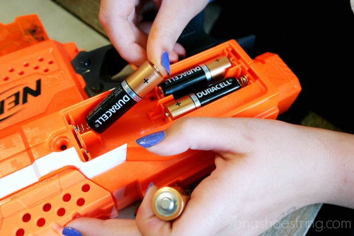 NERF and Duracell batteries