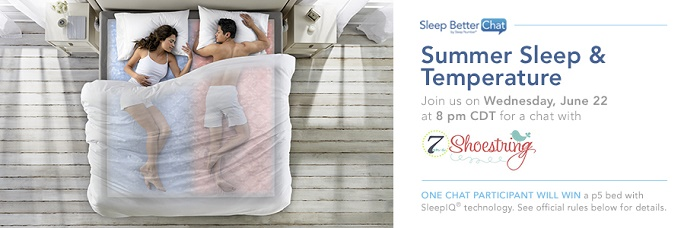Join the Sleep Number #SNSweepstakes Twitter Chat, 6/22 at 9pm EST