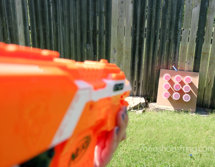 Tic Tac Toe Carnival Themed NERF Games