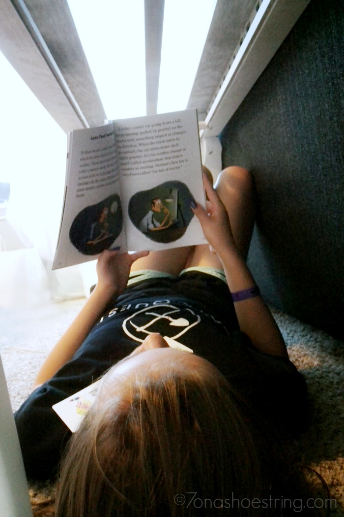 reading challenge under a table