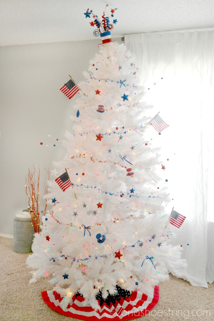Red, White & Blue Tree