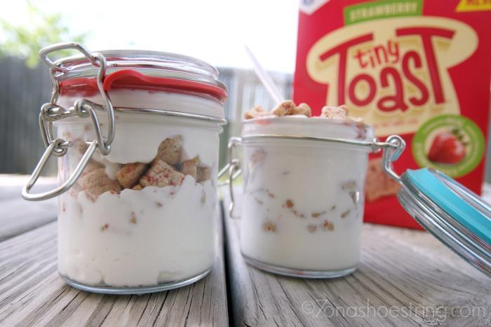 Strawberry Tiny Toast Yogurt Parfaits On-the-Go