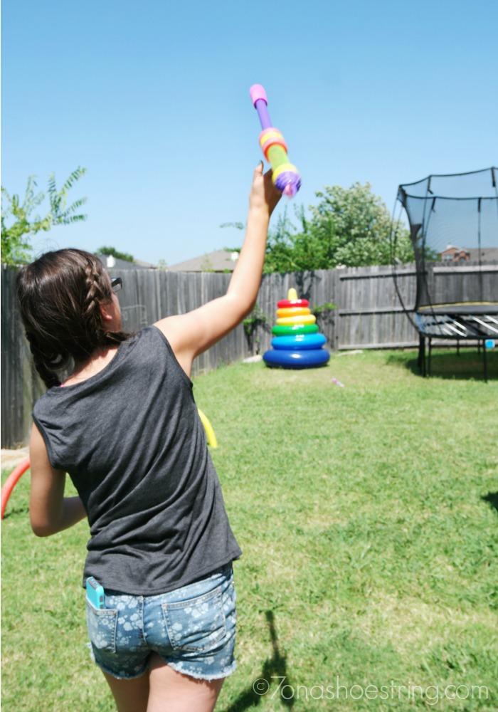 backyard olympics javelin throw