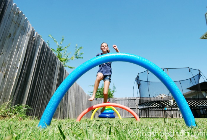 outdoor games-pool-noodle-hurdles