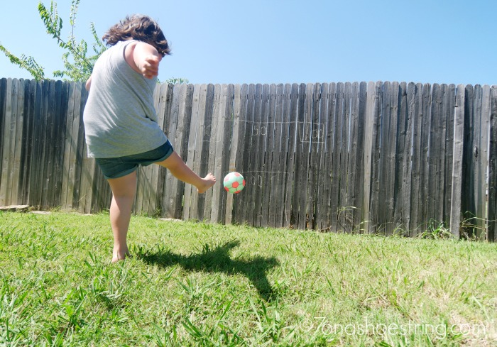 backyard olympics soccer kick