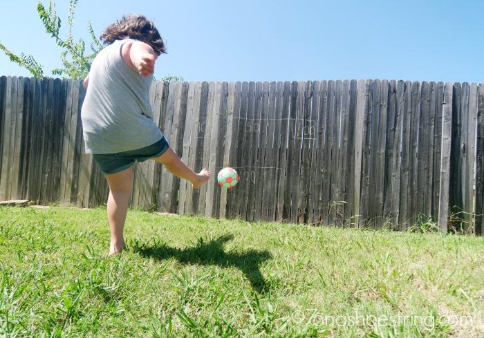 backyard olympics soccer kick