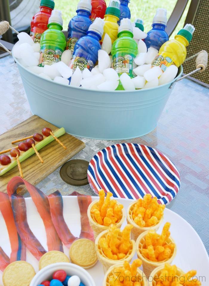 backyard olympics themed food