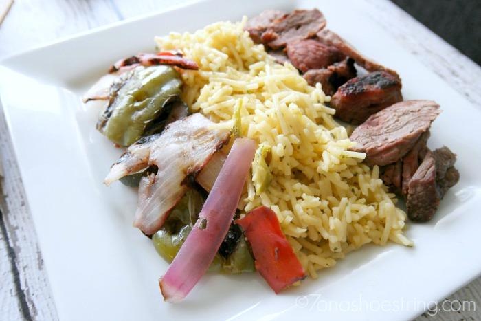 Knorr Grilled Steak & Summer Vegetable Rice