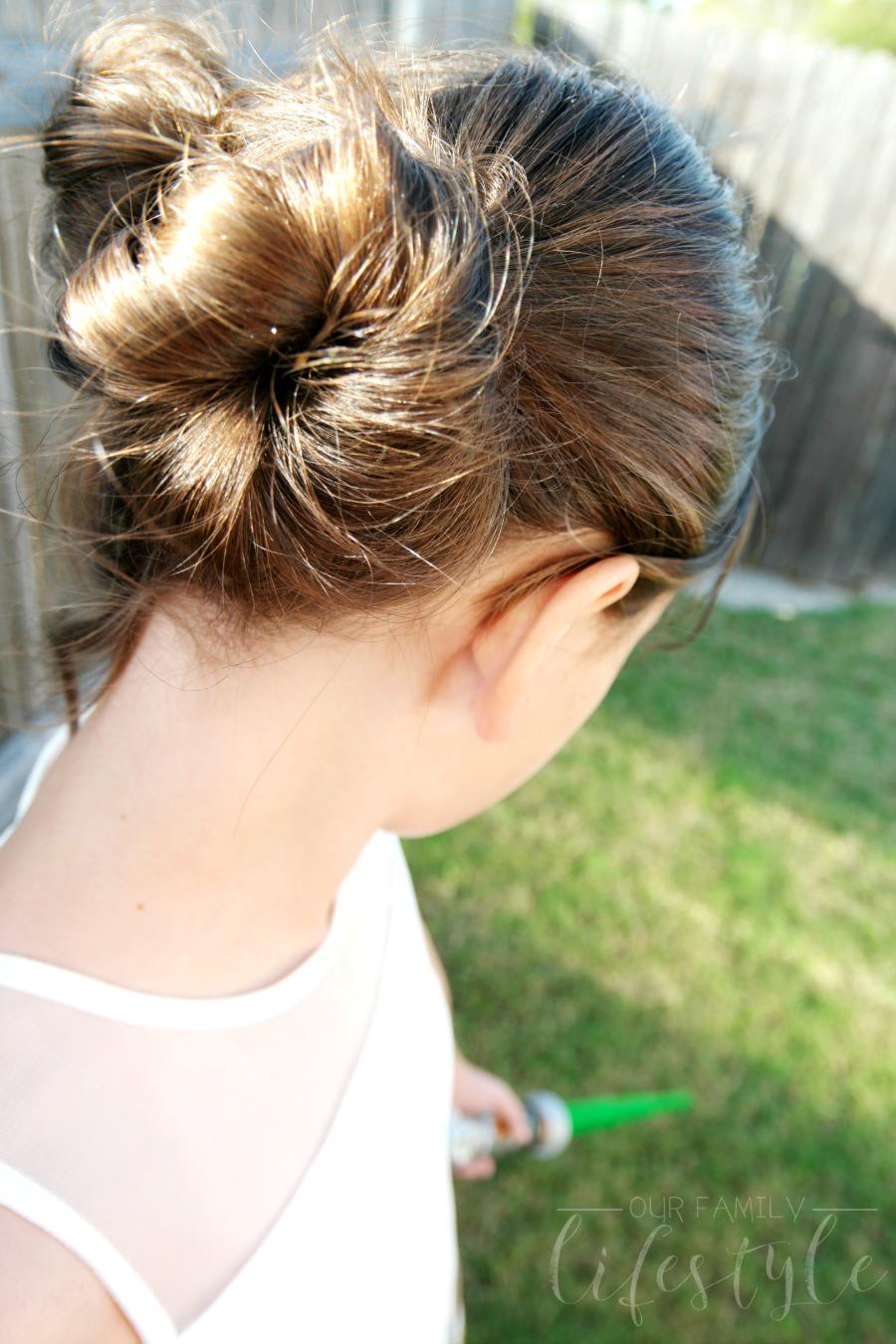 Princess Leia hair buns