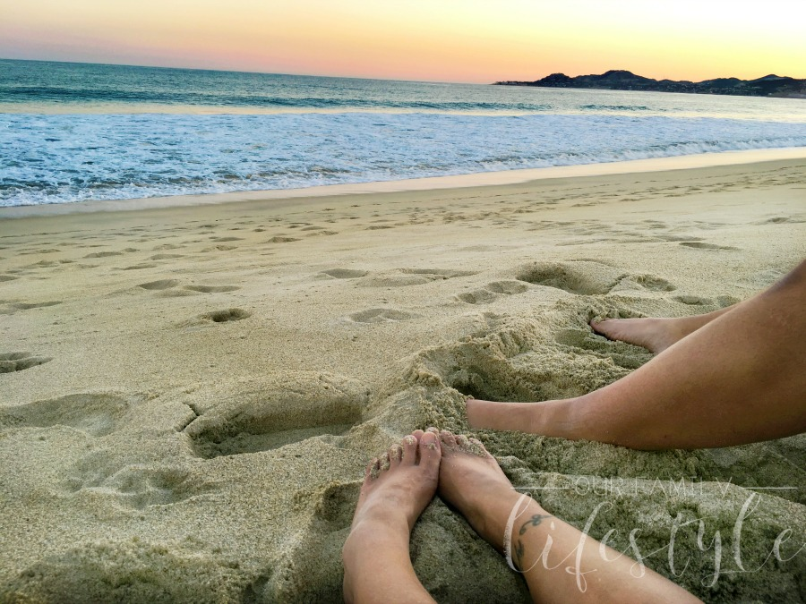 sunset at Holiday Inn Los Cabos