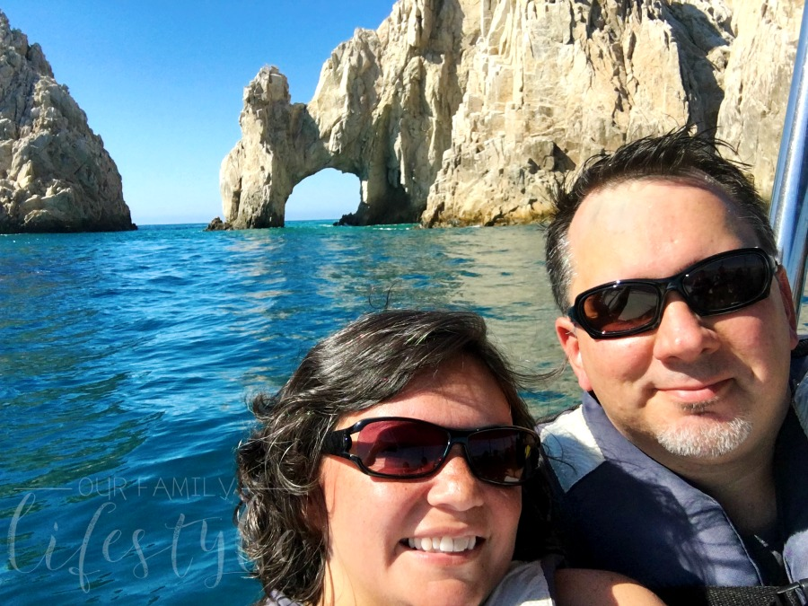Colby and I at the Arch in Cabo San Lucas