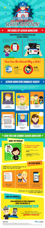 #FightScreenAddiction infographic