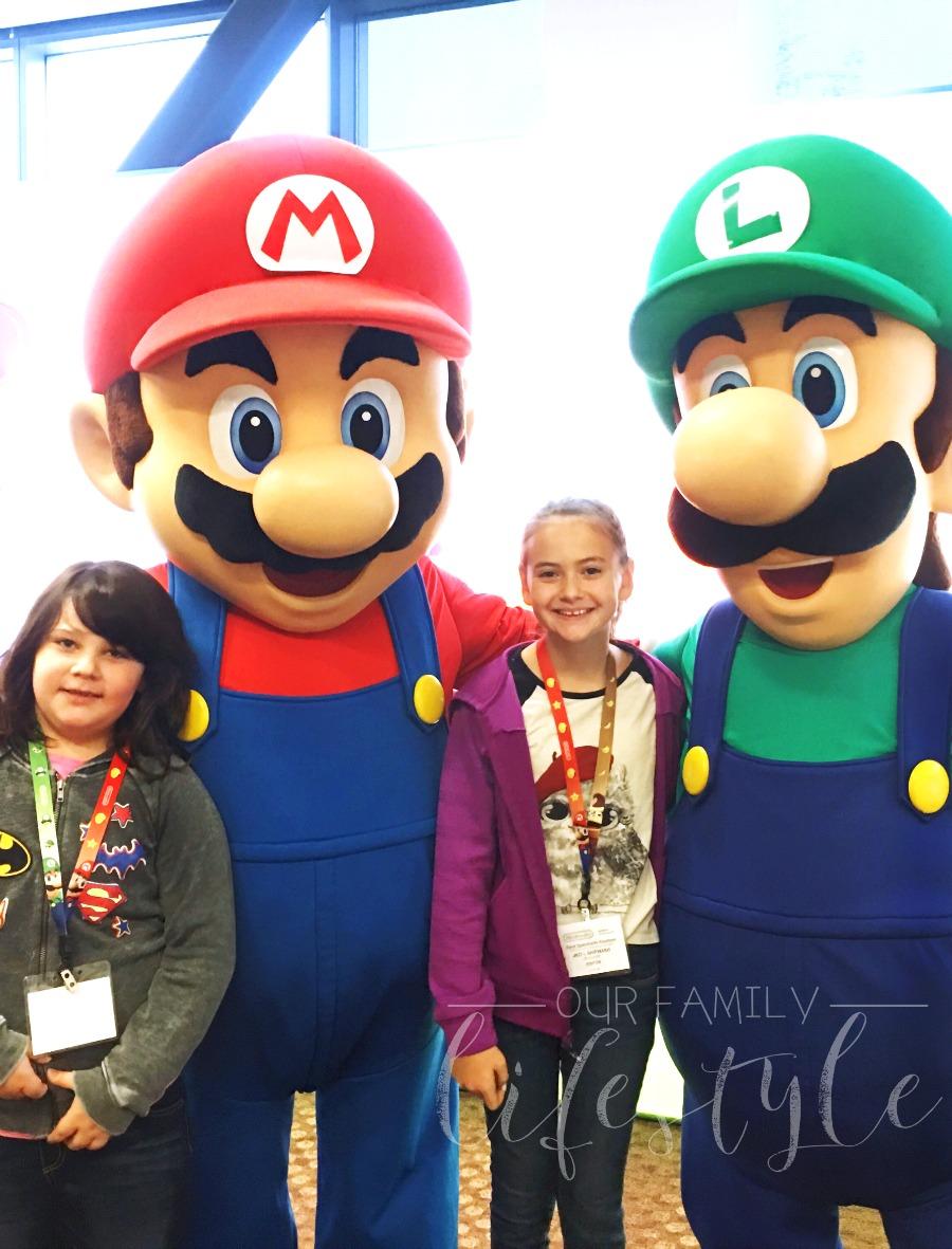 Mario and Luigi at Nintendo HQ