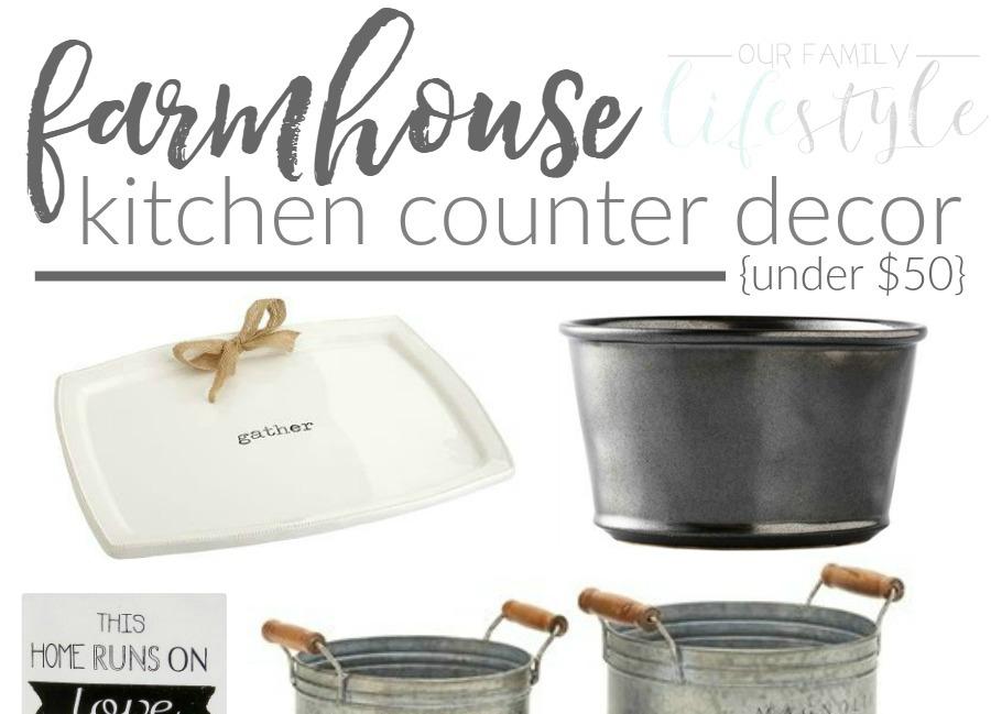 Farmhouse Kitchen Counter Decor Under $50